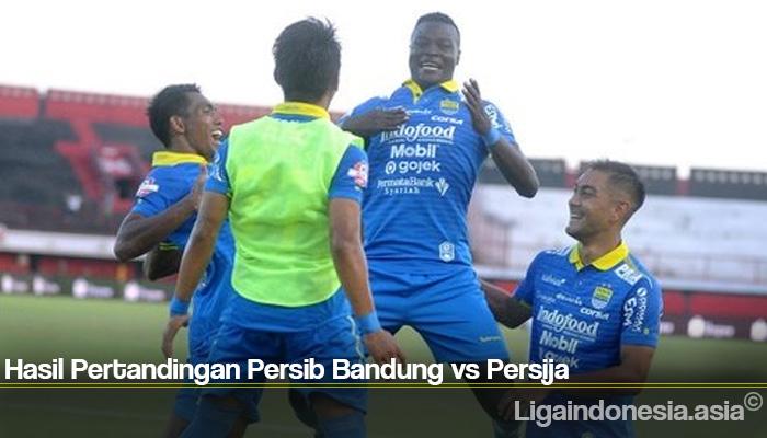 Hasil Pertandingan Persib Bandung vs Persija